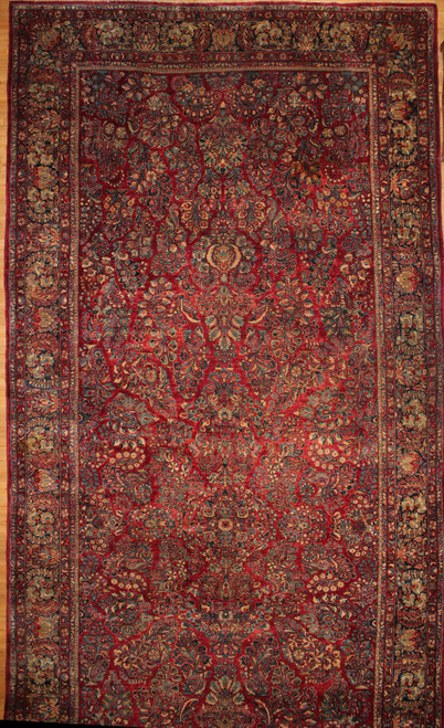 10'3 x 24'5 Antique Persian Sarough