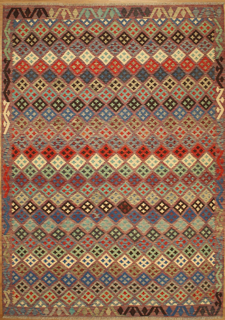 6'11 x 9'9 Hand woven Maimana Kilim
