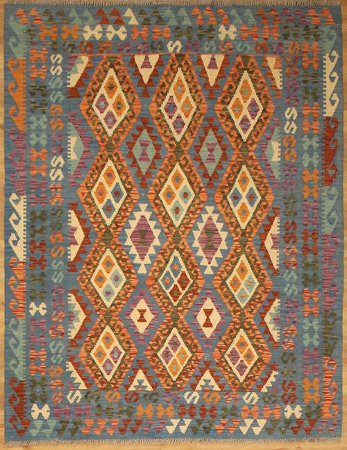 5' x 6'7 Hand woven Maimana Kilim