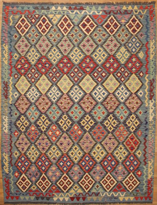 5'11 x 7'8 Hand woven Maimana Kilim