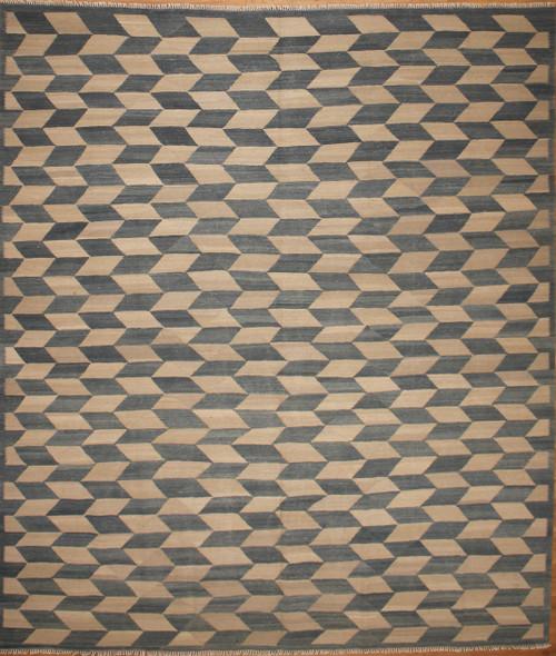 8'3 x 9'7 Hand woven Modern design Kilim