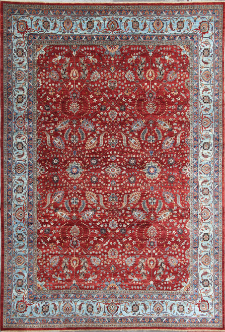 9' x 11'7 Traditional Design Red Rug