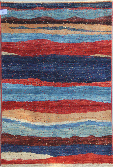 4'1 x 5'6 Color full contemporary Design Rug