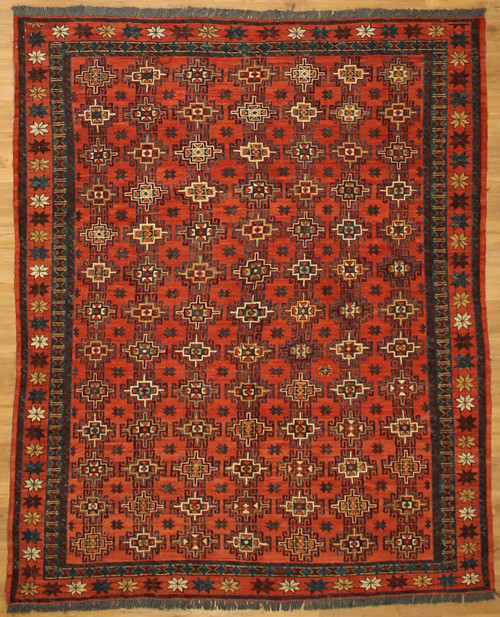 5'10 x 7'2 Tribal design sumak  rug