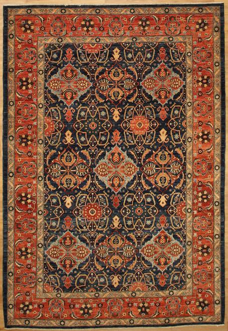 6' x 8'9 Geometric design Blue rug