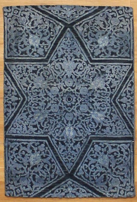 2' x 3' Modern Design Rug with silk