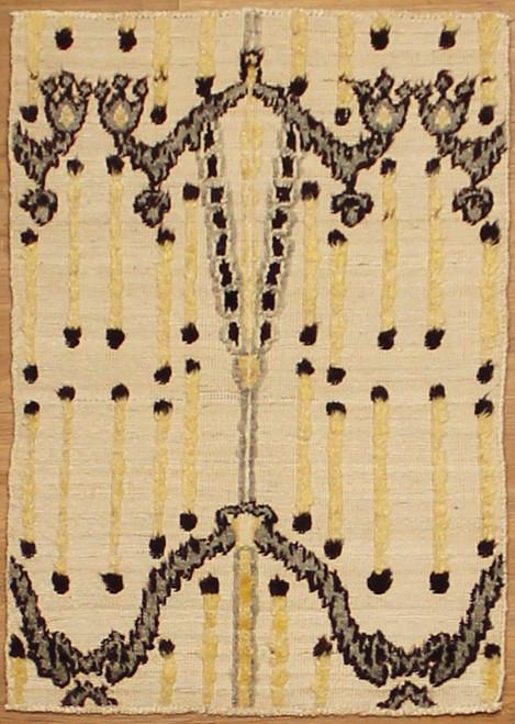 2'1 x 2'11 small beige rug