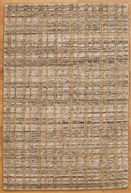 2' x 2'11 Beige/Silver color rug