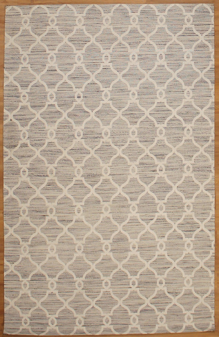 5' x 7'7 Gray color modern design rug