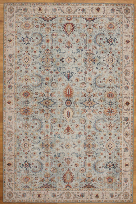5' x 7'7 light blue rug