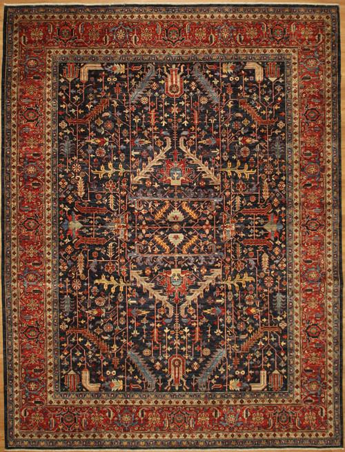Heriz design rug 9' x 11'9