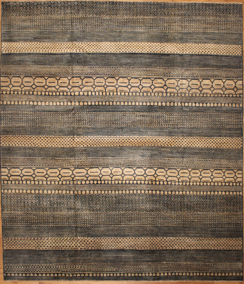 Blue grey Modern design rug 8'2 x 9'9