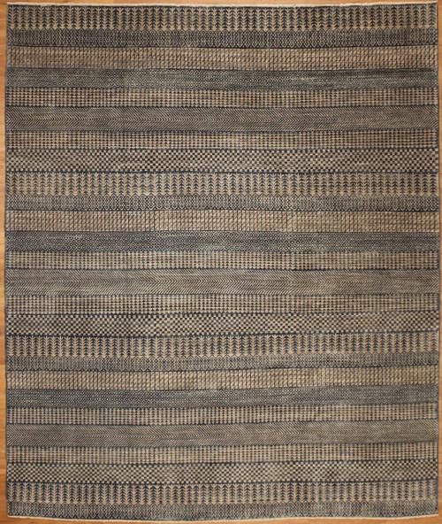 Grey Green modern design rug 8'1 x 9'8