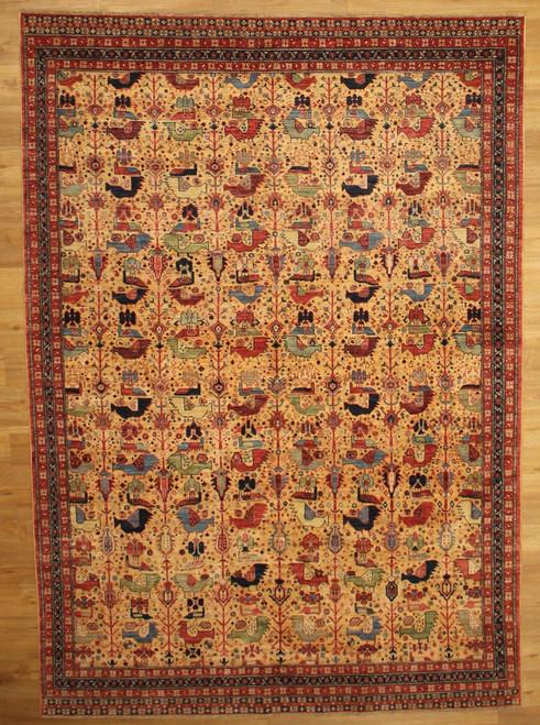 Bird design rug 6'3 x 8'11