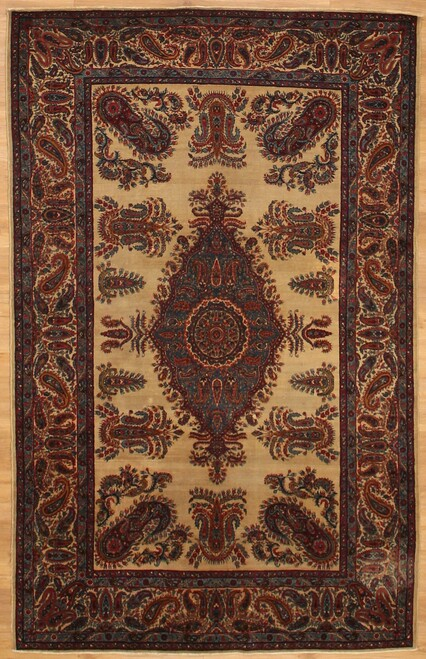 Antique Persian Kerman 4'9 x 7'7