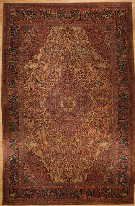 Antique Persian Kashan 8'10 x 13'3