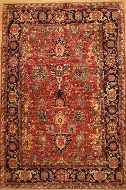 Heriz design Afghan rug 6'1 x 9'