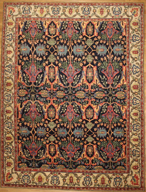Antique Bijar design Afghan rug 9' x 11'10