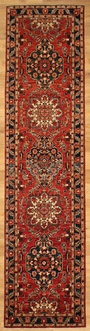 Red Traditional design runner 2'4 x 9'8