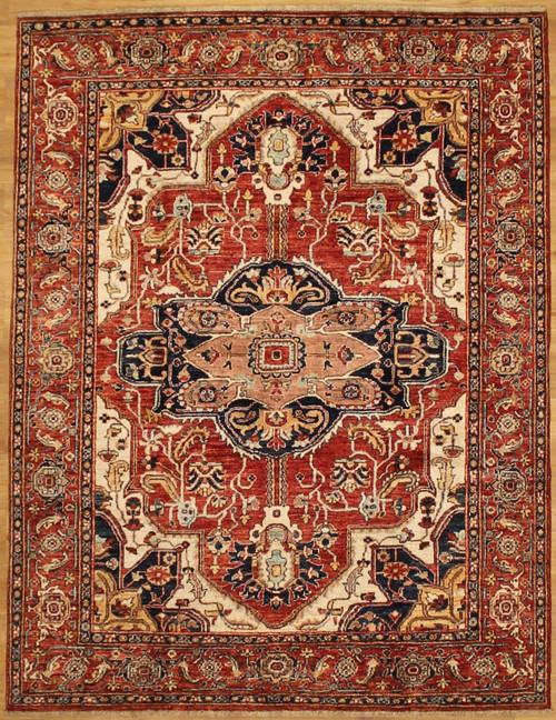 Heriz design rug 4'11 x 6'5
