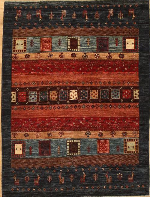 Gabbeh style rug 4'2 x 5'7