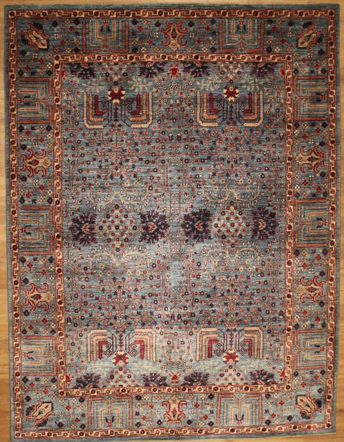 Light blue Oushak design 7'8 x 10'1 oriental Rug