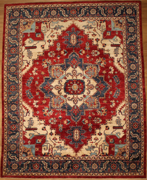 Persian Heriz Design 7'10 x 9'11 rug