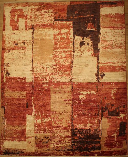 Rust color modern design 8'1 x 10'1 carpet