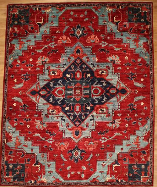 Persian Heriz Serapi design 7'11 x 9'10 rug