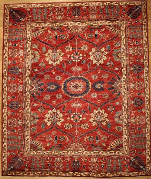 Red Overall design 8'2 x 9'9 rug