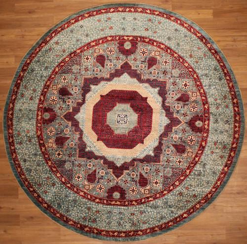 9' round Mamluk design carpet