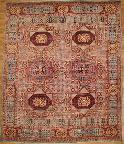 Repeated medallion 8'1 X 9'9 rug