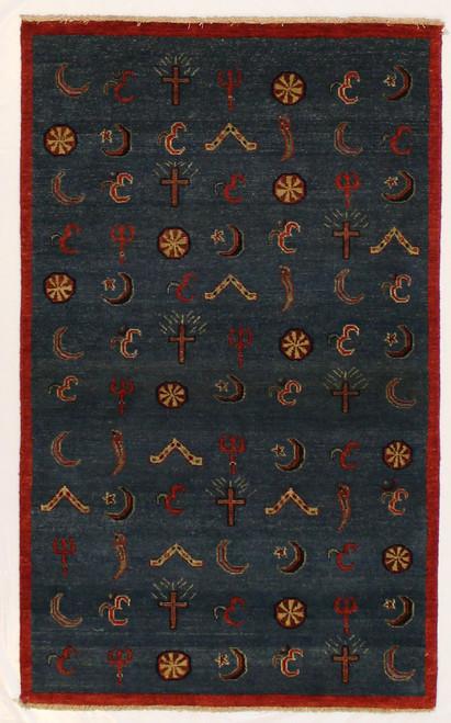 unusual design wool rug