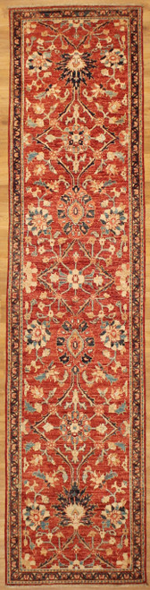 Hand Knotted 2'6 x 10'7 Runner rug