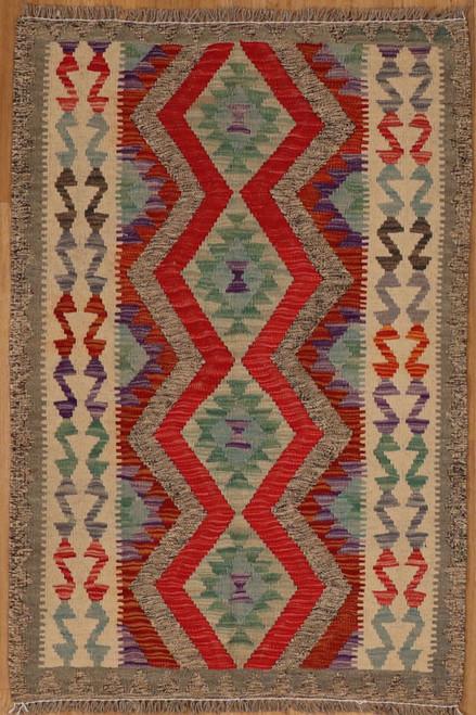 Small Maimana Kilim rug 2'10 X 4'2