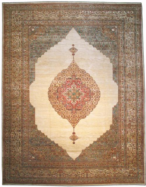 """9'11"""" X 13'5"""" Afghan Tabriz Hajjalily design"""