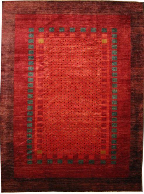 "8'11"" X 11'10"" Afghan Gabbeh design rug"