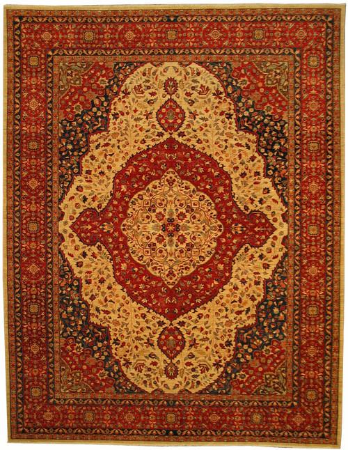 "9' X 11'8"" Afghan Tabriz design rug"