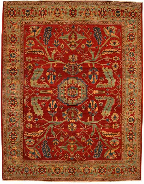 """Heriz design rug 8'11"""" X 11'5"""""""
