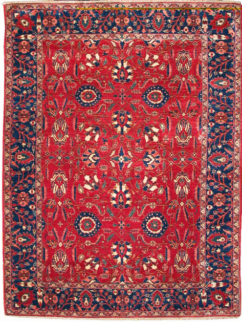 """6'2"""" X 8'3"""" Afghan Semnan hand knotted rug"""