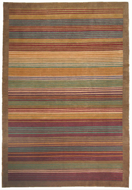 contemporary decorative 6 x 9 Nepalese handmade rug