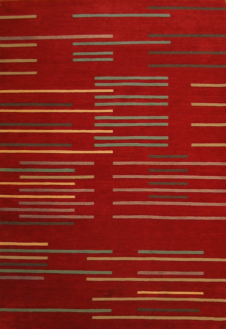 Contemporary design 6' x 9' wool rug