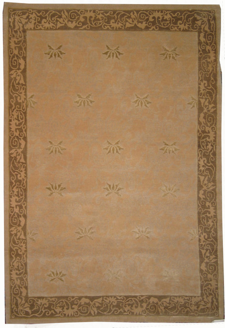 "6'1"" x 8'11"" contemporary wool rug"