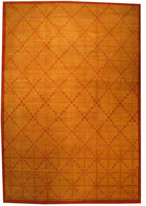 6 x9 Tibetan Yellow gold rug