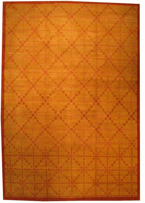 6 x9 Tibetan Yellow gold rug