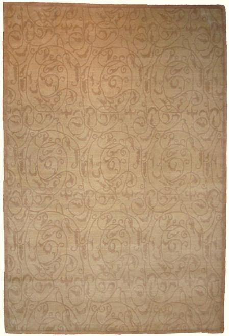 "Beige 6'1"" x 8'2"" Modern Design Tibetan rug"