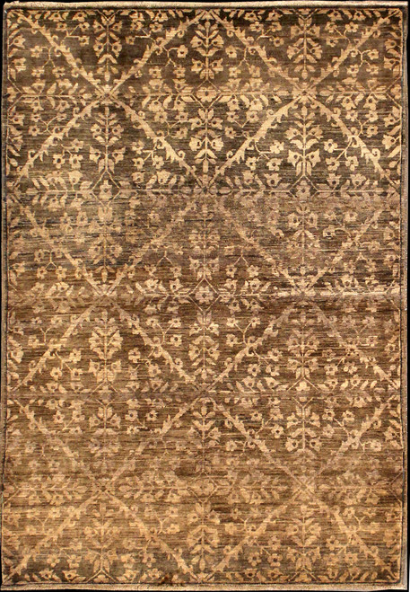 "4'2"" x 6'1"" Afghan Contemporary Rug"