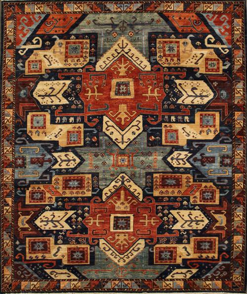 8' x 10' Handmade Caucasian Rug