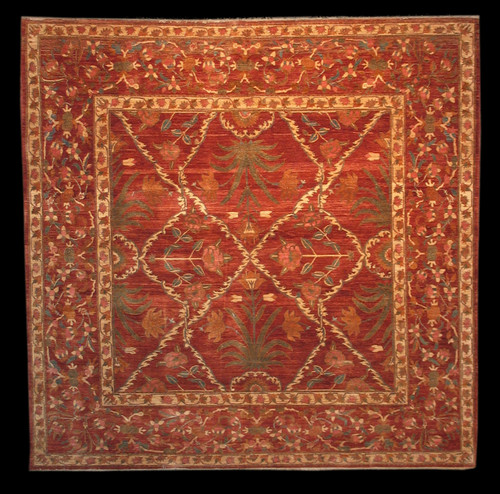 Square Handmade Afghan Rug