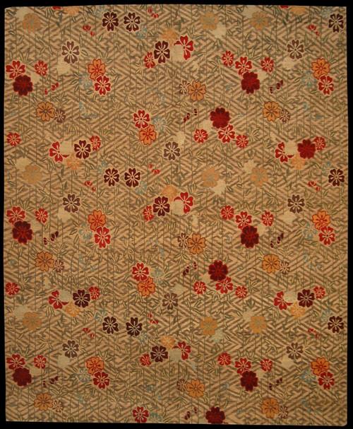 "Flower design rug 8' x 9'9"""